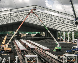 งานก่อสร้าง อาคารโรงงาน